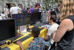 The games displayed included old school games and consoles to newer games developed by underrepresented communities in the gaming world.