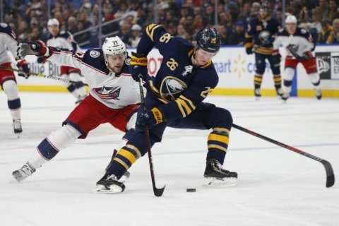 Sabres Dahlin tells AP he's better prepared for 2nd season
