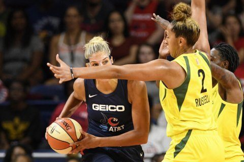 Delle Donne scores 28, Mystics hold on to beat Wings 91-85