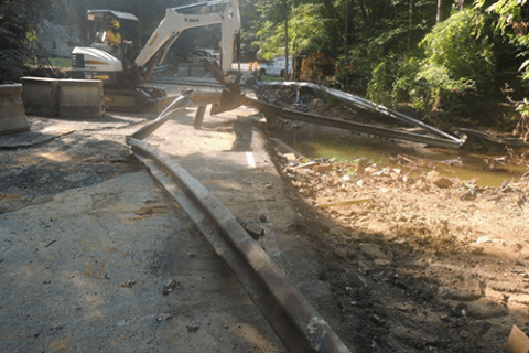Swinks Mill Road bridge repair to start in Fairfax Co. a month after flash flood