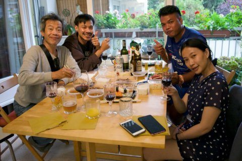 Thai dissident musicians celebrate getting French haven