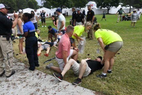 Lightning strike at Tour Championship causes 6 injuries
