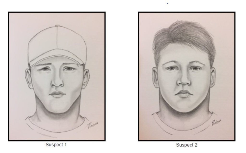 Composite sketch of armed robbery suspects