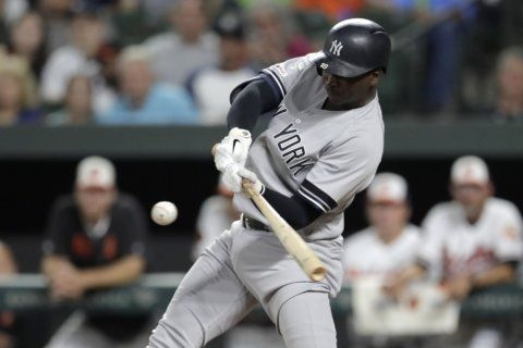 Yankees hit 6 HRs, beat Orioles 9-4 for 7th straight win