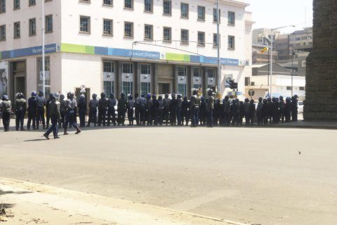 Police patrol Zimbabwe capital before anti-government demos