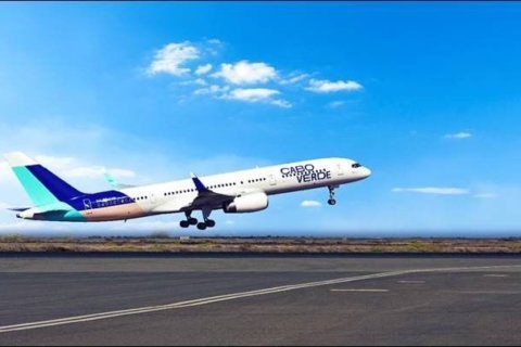 Cabo Verde Airlines lands at Dulles Airport