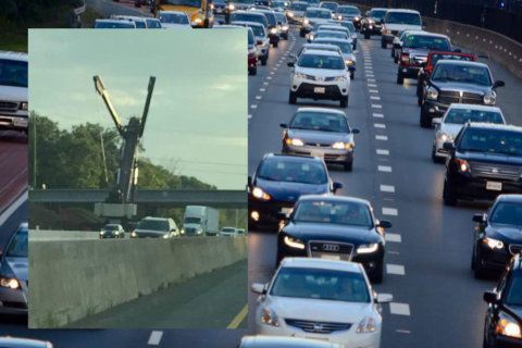I-66 drivers find inspiration in the outstretched arms of 'Steve the Crane'