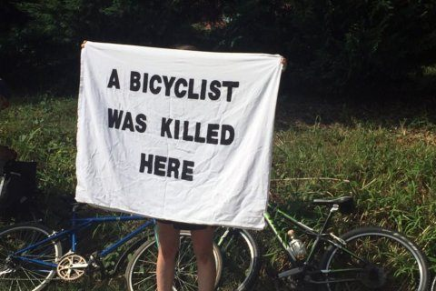 Bike ride and rally honors 2 struck and killed on Montgomery Co. roads