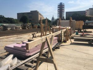 Eisenhower memorial construction site