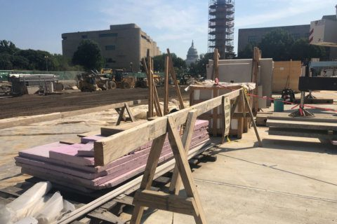 With opening just months away, Eisenhower memorial takes shape