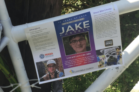 Keepsakes missing from Bethesda ghost bike memorial honoring teen