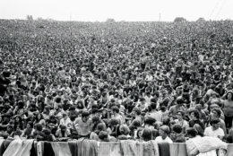 Crowd at Woodstock Festival