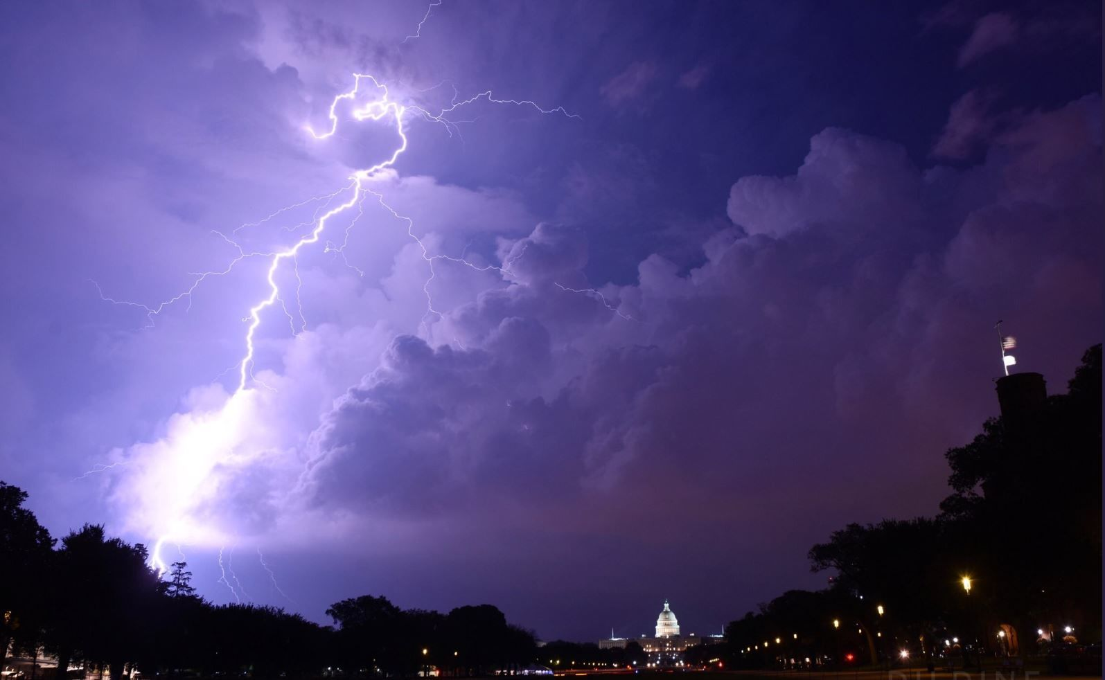 lightning over Capitol HIll