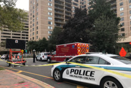 Police block off crystal city shooting site