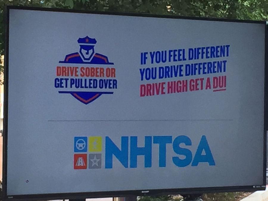 NHTSA crackdown sign