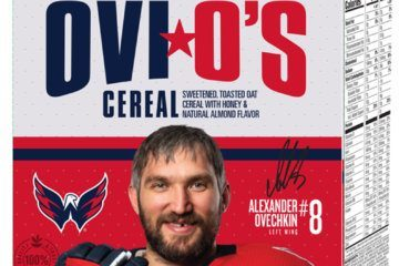 VIDEO: Ovechkin celebrates Ovi O's impending launch, tosses himself some cereal