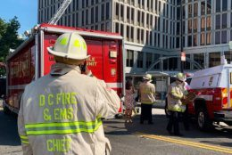 The fire broke out shortly after 9 a.m. in an upper-level boiler room in the six-story Van Ness Center office building at 4301 Connecticut Avenue.