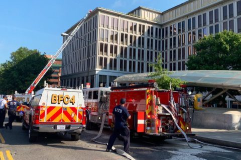 2 sent to hospital after fire at Van Ness office building