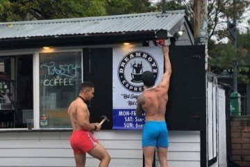 Wash. coffee shop employs shirtless male baristas