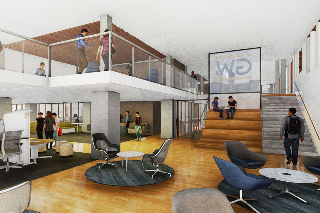 <p>Here is the concept for the Thurston Hall common area space.(Courtesy VMDO Architects, PC)</p>
