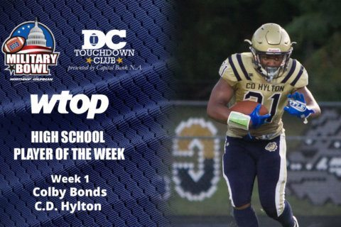 Hylton's Colby Bonds wins high school football Player of the Week honors