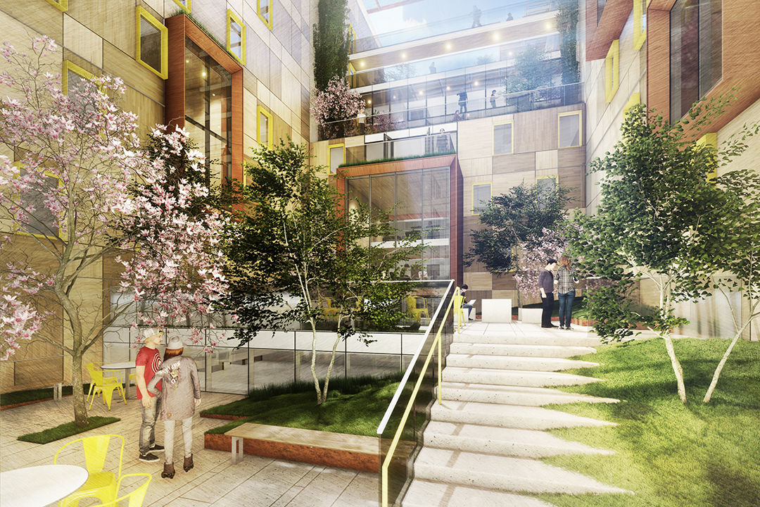 <p>Here is the design concept for the Thurston Hall courtyard space. (Courtesy VMDO Architects, PC)</p>