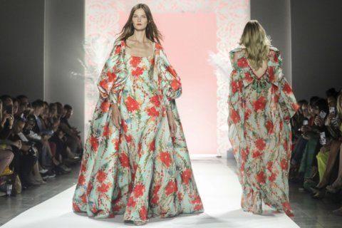 Badgley Mischka evokes an island flair at NY Fashion Week