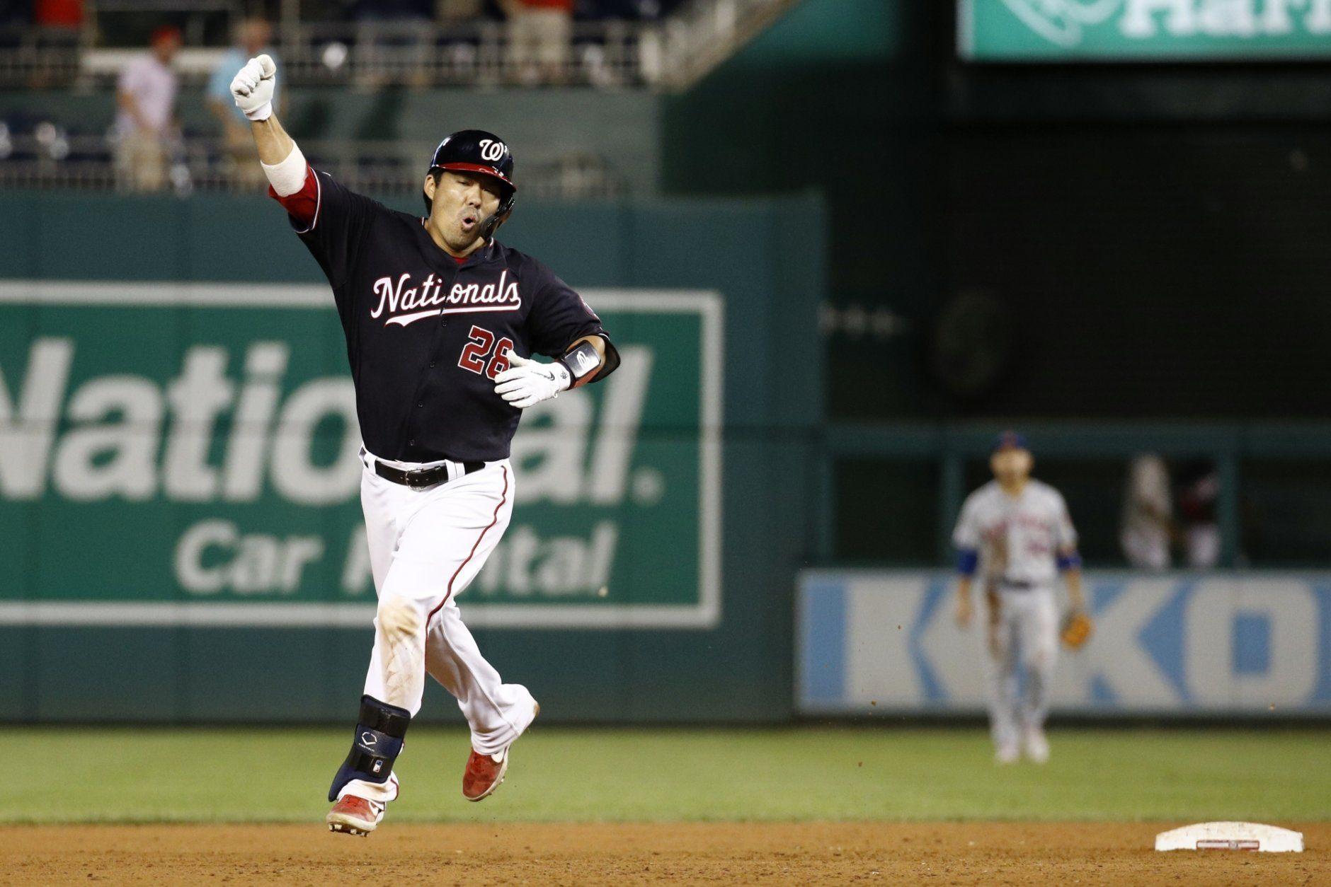 Suzuki HR caps Nats' best 9th-inning rally, beats Mets 11-10