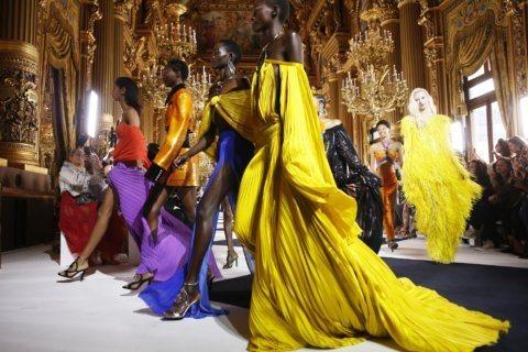 Balmain channels 90s, Miyake debuts new designer in Paris