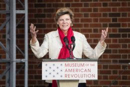 Cokie Roberts speaks during the opening ceremony for Museum of the American Revolution in Philadelphia, Wednesday, April 19, 2017. (AP Photo/Matt Rourke)