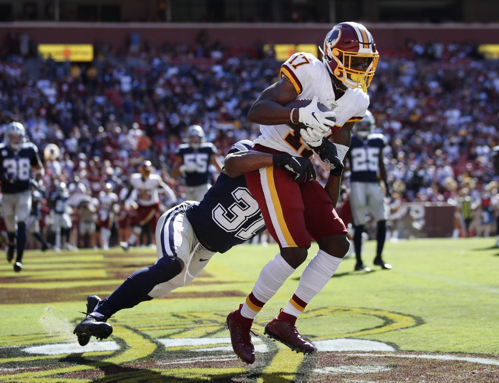 "<p><b><i>Cowboys 31</i></b><br /> <b><i>Redskins 21</i></b></p> <p>Happy Birthday, Terry McLaurin. What better way to celebrate 24 than with another five catch, one touchdown performance in a loss to a division rival?</p> <p>And before you crown the Cowboys, consider their &#8220;<a href=""https://deadspin.com/the-cowboys-look-fun-as-hell-1838044163?utm_medium=socialflow&amp;utm_source=deadspin_facebook&amp;utm_campaign=socialflow_deadspin_facebook"">fun</a>&#8221; offense just lit up the two worst teams in the division, the latter without its best defensive lineman and two corners. Wake me up when they face the Packers, Vikings and Patriots defenses.</p>"