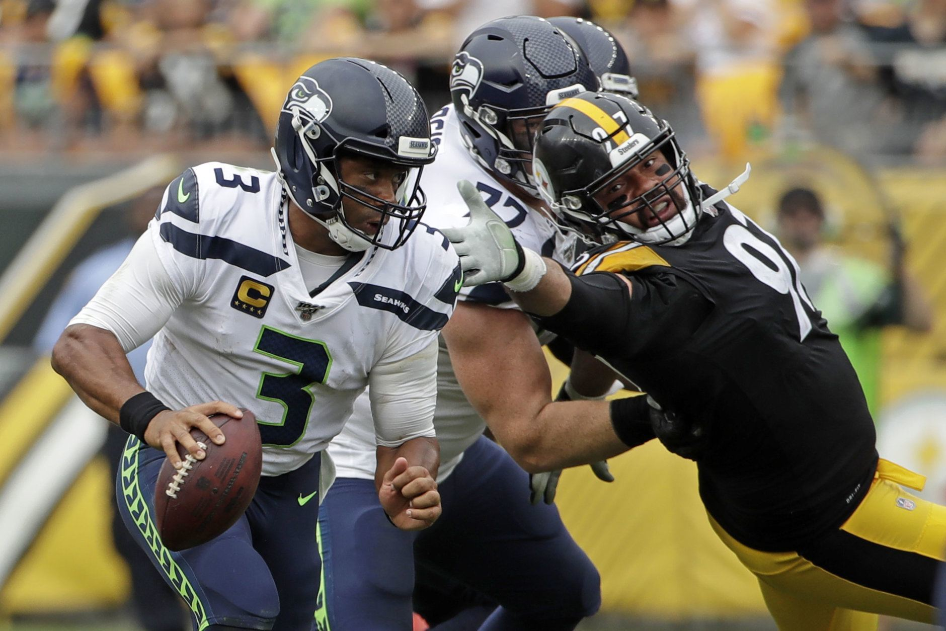 <p><b><i>Seahawks 28</i></b><br /> <b><i>Steelers 26</i></b></p> <p>It was a confluence of historical achievements for the Seahawks: Pete Carroll celebrated his 68th birthday with his 100th career victory as a head coach and Russell Wilson became the second sub-6-foot QB to throw for 200 touchdowns in his career (joining Redskins legend Sonny Jurgensen). I don&#8217;t think anyone&#8217;s sleeping on Seattle this year.</p>