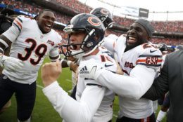 """<p><b><i>Bears 16</i></b><br /> <b><i>Broncos 14</i></b></p> <p>It was a crazy ending to the first game in which Denver&#8217;s stadium is christened with <a href=""""https://www.9news.com/article/sports/nfl/denver-broncos/mike-klis/denver-broncos-stadium-new-name-empower-field-at-mile-high/73-c0671177-03a1-461a-8161-50ba7e3ac155"""">a crazy new name</a>. And just like that, Chicago has a (momentarily) clutch kicker to help lift a lagging offense to 1-1 with a virtual prime time bye against the notoriously-terrible-on-MNF Redskins.</p>"""