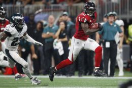 """<p><b><i>Eagles 20</i></b><br /> <b><i>Falcons 24</i></b></p> <p>On a night when DeSean Jackson&#8217;s <a href=""""https://profootballtalk.nbcsports.com/2019/09/10/desean-jackson-trails-only-jerry-rice-in-career-touchdowns-50-yards-or-longer/"""">considerable big-play talents</a> were missed on the prime time stage, Julio Jones stepped up in the clutch with a 54-yard touchdown to save Atlanta&#8217;s season. Think that&#8217;s hyperbolic? It&#8217;s not. The Falcons play three of their next four games on the road before hosting the Rams and Seahawks. They needed this.</p> <p>And Philly really needs the players they lost to injury in this game to be ok. Carson Wentz looked decidedly worse without DJax and Alshon Jeffery, and the second-oldest roster in the NFL doesn&#8217;t appear to have the depth to withstand multiple injuries to their skill positions.</p>"""