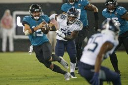 "<p><b><i>Titans 7</i></b><br /> <b><i>Jaguars 20</i></b></p> <p>Right at the point when Jacksonville was <a href=""https://profootballtalk.nbcsports.com/2019/09/17/jaguars-have-fallen-apart-since-last-years-win-over-patriots/"" target=""_blank"" rel=""noopener"" data-saferedirecturl=""https://www.google.com/url?q=https://profootballtalk.nbcsports.com/2019/09/17/jaguars-have-fallen-apart-since-last-years-win-over-patriots/&amp;source=gmail&amp;ust=1569267828649000&amp;usg=AFQjCNGnReY7tlDUUHGAkIsn3qWvRQZFbg"">trending in the wrong direction</a>, Gardner Minshew showed up out of nowhere to join D.C.-native Byron Leftwich as the only Jaguars QBs to throw for a touchdown in each of his first three games. If the Jags win the AFC South with the mustached (and <a href=""https://twitter.com/BleacherReport/status/1175603494469824512?s=20"" target=""_blank"" rel=""noopener"">leggy</a>) Minshew at QB, Nick Foles may have just been <a href=""https://en.wikipedia.org/wiki/Wally_Pipp"" target=""_blank"" rel=""noopener"" data-saferedirecturl=""https://www.google.com/url?q=https://en.wikipedia.org/wiki/Wally_Pipp&amp;source=gmail&amp;ust=1569267828649000&amp;usg=AFQjCNG1IIn1fc4DkteoLMJ8BItYuajBQw"">Wally Pipp</a>&#8216;d two years after nearly doing the same to Carson Wentz.</p>"