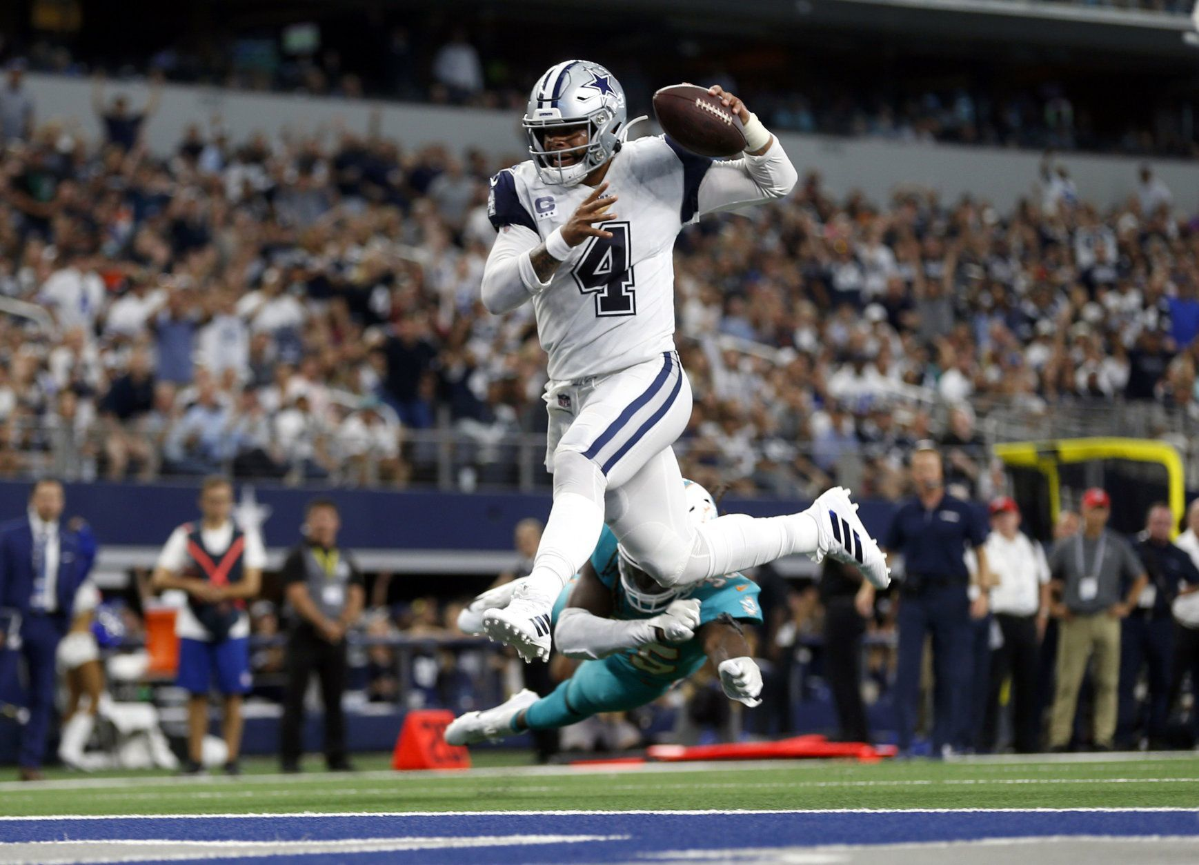 "<p><b><i>Dolphins 6</i></b><br /> <b><i>Cowboys 31</i></b></p> <p>Calm down, Dallas fans. The Cowboys beat the two worst teams in their division and needed almost three full quarters to dispatch of <a href=""https://twitter.com/ESPNStatsInfo/status/1175883607669379073?s=20"" target=""_blank"" rel=""noopener"" data-saferedirecturl=""https://www.google.com/url?q=https://twitter.com/ESPNStatsInfo/status/1175883607669379073?s%3D20&amp;source=gmail&amp;ust=1569294743341000&amp;usg=AFQjCNF4tqQIHfOXZVRv1dBn01p_BpErmg"">a historically bad team</a> that&#8217;s obviously tanking. Win in New Orleans and beat an improved Packers team in successive weeks and <i>then</i> you can talk.</p>"