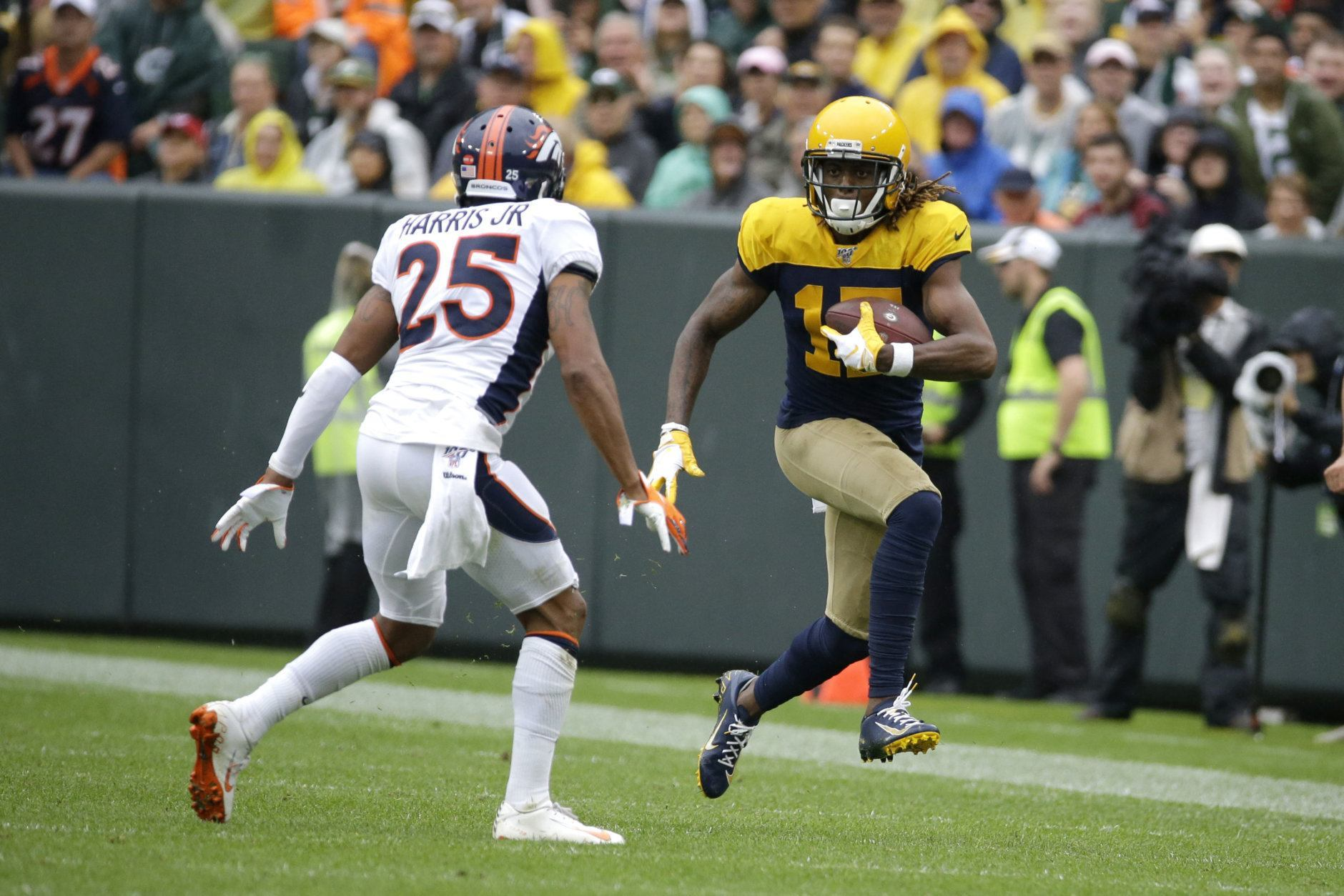 "<p><b><i>Broncos 16</i></b><br /> <b><i>Packers 27</i></b></p> <p>Denver, who hired a head coach because of his defensive prowess, has a defense without a take-away or a sack through three games this season. If only they had a player on their team capable of generating both …</p> <blockquote class=""twitter-tweet""> <p dir=""ltr"" lang=""en"">Shaquil Barrett in five seasons with the Broncos: 14 sacks.<br /> Shaquil Barrett in not even 3 full games with the Buccaneers: 8 sacks.</p> <p>— Michael David Smith (@MichaelDavSmith) <a href=""https://twitter.com/MichaelDavSmith/status/1175907117355753473?ref_src=twsrc%5Etfw"">September 22, 2019</a></p></blockquote> <p><script async src=""https://platform.twitter.com/widgets.js"" charset=""utf-8""></script></p>"