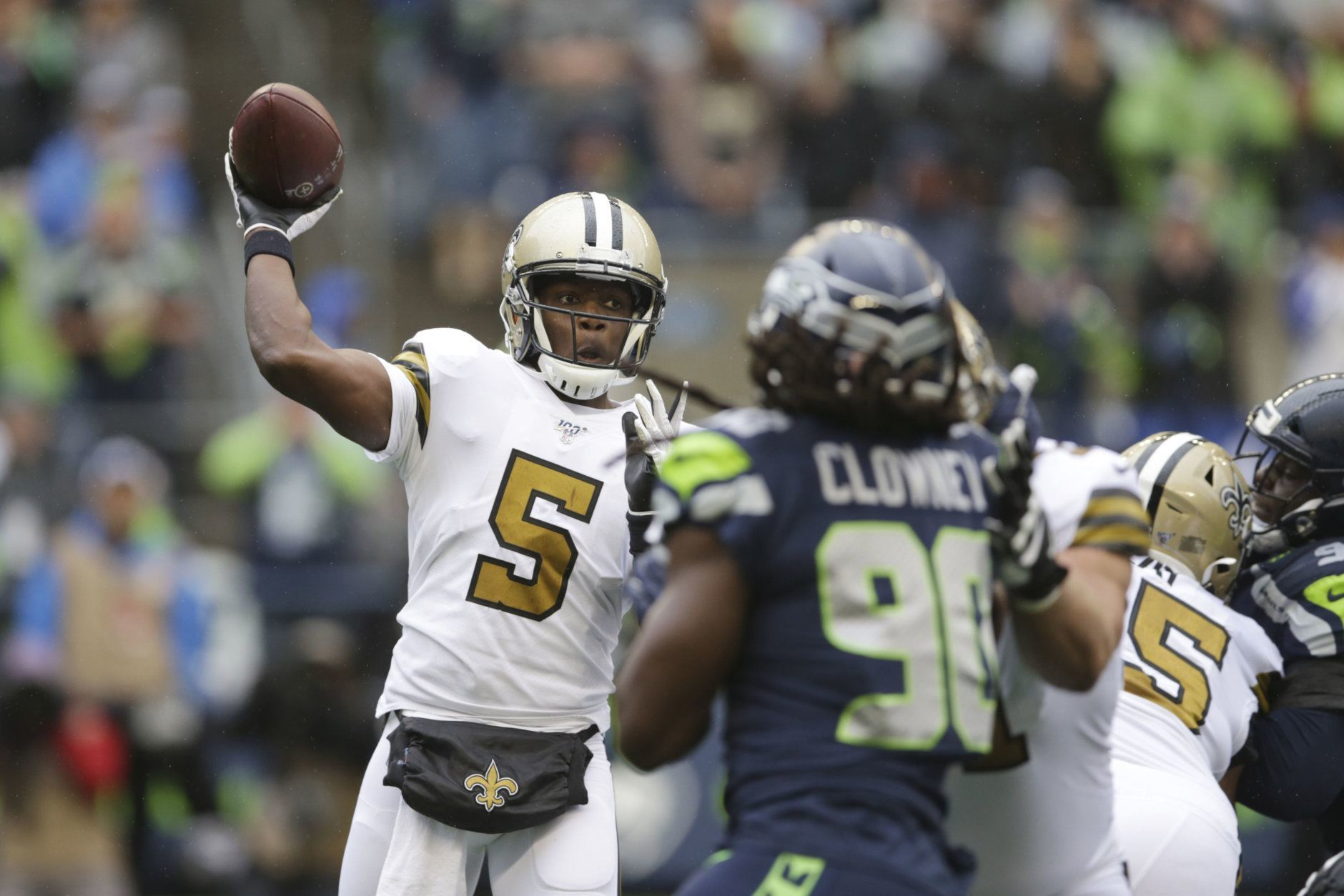 <p><b><i>Saints 33</i></b><br /> <b><i>Seahawks 27</i></b></p> <p>Unless you&#8217;re a Seattle fan, it&#8217;s hard not to feel good for Teddy Bridgewater. The backup to Drew Brees won his first start since Week 17 … in 2015, well before his career-altering knee injury. If he can keep playing like this, the Saints can hang with anybody.</p>