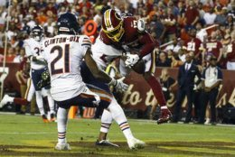 <p><em><strong>Bears 31</strong></em><br /> <em><strong>Redskins 15</strong></em></p> <p>The one and only thing the &#8216;Skins can feel good about is Terry McLaurin, the first player in NFL history to notch at least five catches and a receiving touchdown in each of his first three games. With apologies to Gardner Minshew (and his mustache), Scary Terry&#8217;s the steal of the 2019 NFL Draft.</p> <p>But HaHa got the last laugh. Clinton-Dix got a Pick 6 in his return to FedEx Field to help Chicago snap a 7-game losing streak against a Redskins team that has now lost eight straight on Monday Night Football and 24 of the 30 they&#8217;ve played on MNF since 1997. Oof.</p>