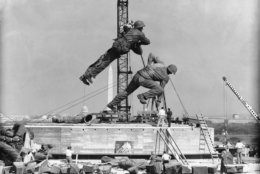 <p>Putting together the Marine Corps War Memorial was no small job.</p>
