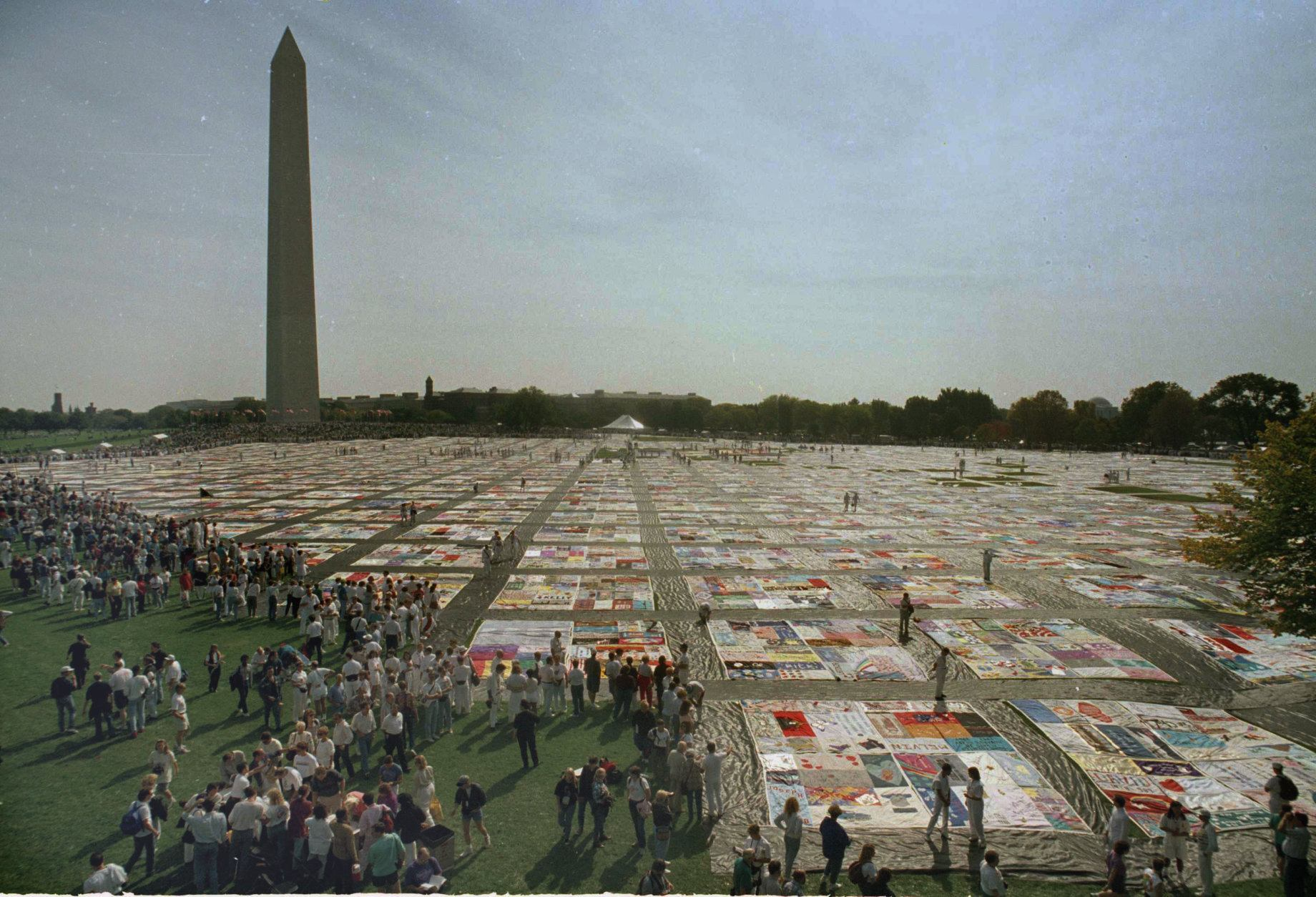 <p>Periodic AIDS quilts have made for moving visuals.</p>