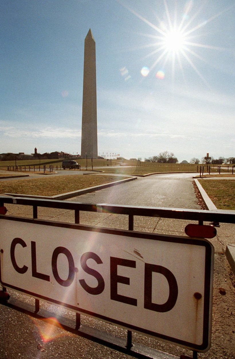 <p>It&#8217;s a go-to backdrop for government shutdowns, too.</p>