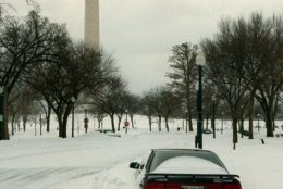 <p>From snow to the cherry blossoms, the monument has long served as a distinctive backdrop for D.C. weather pictures.</p>