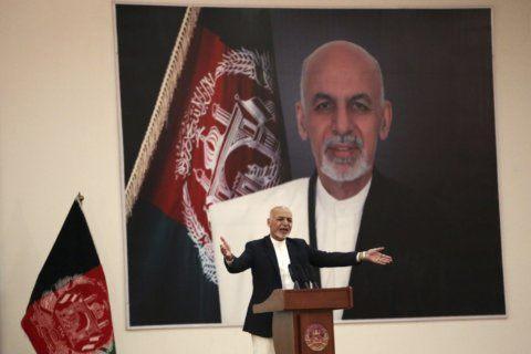 Bombing hits Afghan president's rally in northern province