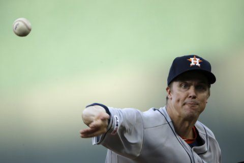 Greinke finally gets win over old club, Astros top Royals