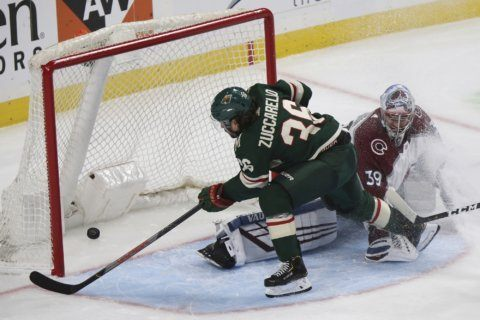 Wild top Avalanche behind Zuccarello's 3 points.