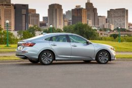 <p>This photo provided by Honda shows the 2019 Honda Insight Hybrid. Car shoppers seeking high fuel economy have two particularly intriguing choices this year: the Honda Insight and the Toyota Corolla Hybrid. Both deliver an EPA-estimated 52 mpg in combined city and highway driving, which is among the best of any vehicle on sale.  (Honda via AP)</p>