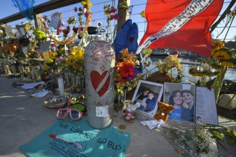 Vigil held for 34 killed in California dive boat fire