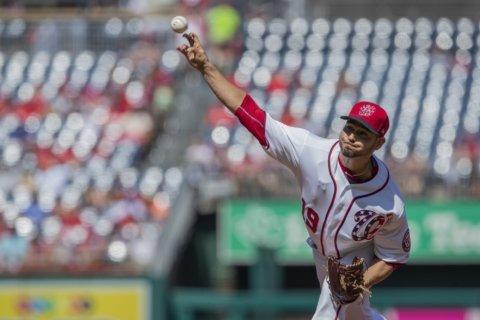 Sánchez blanks Braves, Nationals salvage series finale 7-0