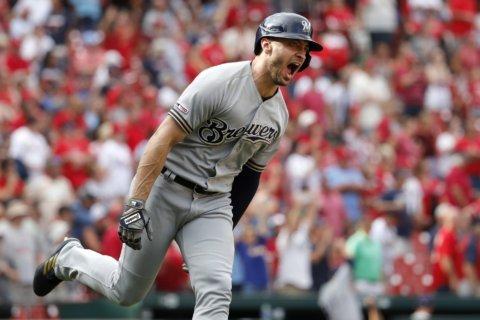 Braun's grand slam lifts Brewers past Cardinals 7-6